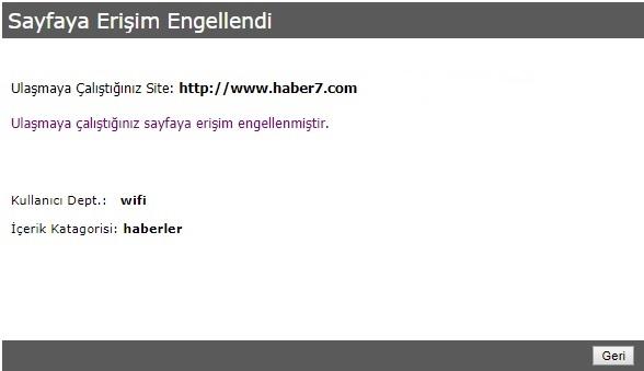 Web Filtreleme